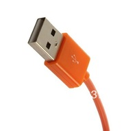 New Orange Universal 2M Micro USB Data To USB Charging Cable Line Fr Cell Phone High Quality