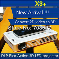 New upgrade!! COOLUX X3+ Portable Mini DLP Micro active 3D Projector 1280*800 650ANSI Lumens lamp 50,000hrs