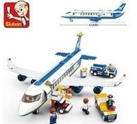 Sluban blocks Airbus aviation world series 483pcs/set M38-B0366 Children's enlightenment educational assembly Building block