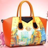 Fatory Price!!2013 Fashion PU Print Women's Handbag Classics Shoulder Messenger Bags SL096