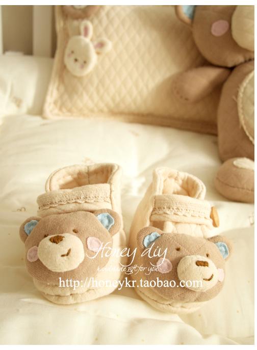 New Handmade Chegada Shoes Wry Boca Urso recém-nascido bonito do bebê , e não o produto acabado , Kit de Material de Bricolage , Frete Grátis(China (Mainland))