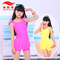 Free shipping fashion cheap Marble child swimwear female child swimwear girl dress style one piece swimwear 5112