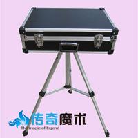 Suitcase table trigonometric fork mount magic table box magic props set