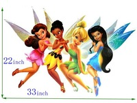 Free shipping ,giant size Wall Stickers, tinkerbell cartoon sticker, 33inch x 22inch