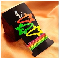 10cards/lot Free shipping 2013 new Fluorescent color BB hair clip,candy color hairpin  ,fashion hair accessory