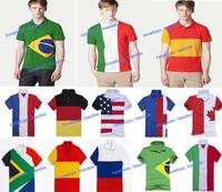Made in peru  New Men Country Flag crocodile Tshirt,100% Original LACO** Men CASUALMesh tshirt /100% cotton,american flag shirts