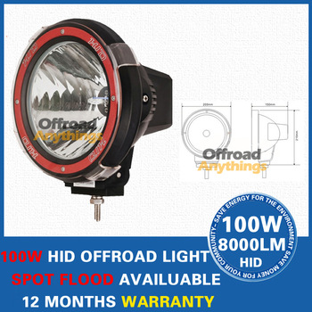 "8 Pcs 9inch 55W HID offroad light spot 100W hid driving light, 4X4 Jeep , work light, 4WD Jeep 9"" off-road EMS"