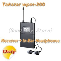 Takstar wpm-200   In-Ear Wireless Monitoring Headphones & Earbuds Receiver + In-Ear Earphone [Not Include Transmitter]