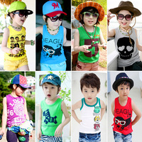 2013 summer children's clothing lion vest baby child male female child knitted t-shirt vest 4128