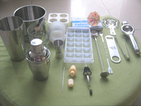 Tools super set bundle 19 supplies cocktail shaker spoon volume opener.