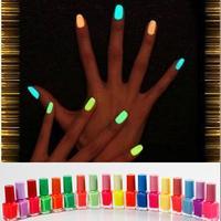 Luminous Neon Glow In Dark Candy Color Fast Dry  Nail Polish nail art/Fluorescent nail Enamel,20colors,4Pcs/Lot