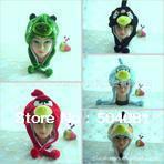 plush toy Christmas WINTER cosplay Beanie/kid&adult hat wholesale cute colourful birds cap Cartoon pig Animal anime Hat