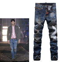 Mens Jeans Hot free Shipping Retail & Wholesale Mens Trousers Leisure Casual Pants Newly Style Famous Brand Cotton Men Jeans 810