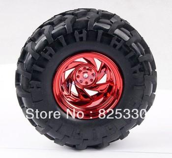 4pcs 1:10 Rubber Wheel Rim & Tires Tyre For RC model Monster Bigfoot Truck 6010-3001