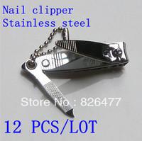 Hot items 12 pcs/ Lot Classic Finger Toe bulk nail clipper stainless steel scissors finger plier nail care tools as seen on TV
