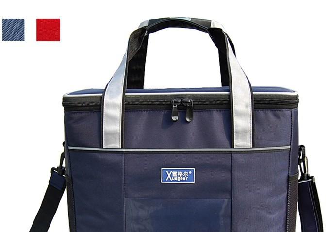 Transporte rápido 2013 grande espessamento Fast food saco térmico saco térmico almoço duplas bag entrega de gelo ao ar livre saco pacote 37L(China (Mainland))