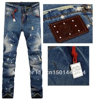 Hot Free Shipping Retail & Wholesale Mens Trousers Leisure & Casual Pants Newly Style Famous Brand Cotton Men Jeans pants 8028
