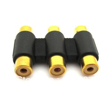 3 RCA to 3 RCA female to female AV Audio Video Sockets Joiner Audio Video Coupler Adapter