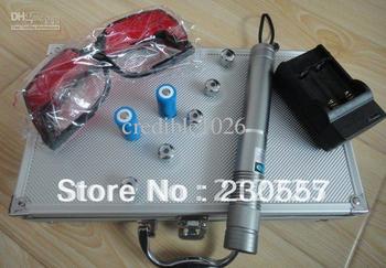 4000mw/4w 450nm Tactical burning laser flashlight,focus adjustable laser torch,FREE shipping blue laser pointer