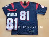 Free Shipping  Wholesale Men's Houston #81 Owen Daniels Elite Team Color Jersey American Football Jersey Mixed Order