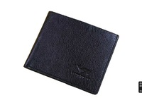 Septwolves cowhide wallet male short design genuine leather horizontal men's wallet card holder