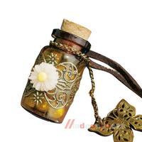 Fashion Noble Jewelry Retro Wishing Bottle Long Leather Rope Sweater Necklace M3