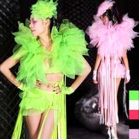 Fashion tassel gauze costume ds lead dancer clothing female singer performance wear