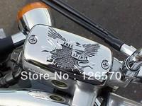 Free Shipping  Chrome Front Brake Reservoir Fluid Cap For Honda Valkyrie Goldwing 1500 1800 VTX 1997-2008