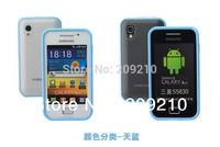 Hot sale Semi Clear Plastic pc+TPU Bumper hard matte Case for Samsung Galaxy Ace S5830 S5830i S5838 i579,1pc/lot