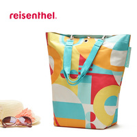 FREE SHIPPING eco-friendly waterproof women's large capacity beach bag shoulder bag nylon floral printing shopping bag