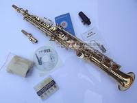 Mp3 straight pipe soprano saxophone tube b double straight pipe saxe