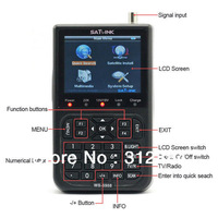 "NEW SATlink WS-6908 3.5""LCD DVB-S FTA Data Digital Satellite Signal Finder Meter Special price Free"