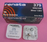 renata Silver Oxide Watch Battery 379 SR521SW 521 1.55V  100% original brand renata 379 renata 521 battery 20pieces