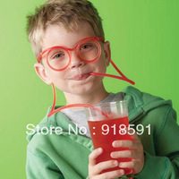Free shipping (10 pcs/lot) ovelty items Amazing Silly multi-colors Glasses Drinking Straw Eyeglass Frames