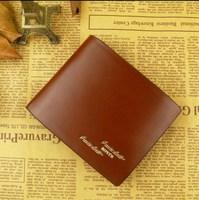Designer Wallet  Pu Leather Men's short design wallet fashionable casual  vertical  Cross-section wallet
