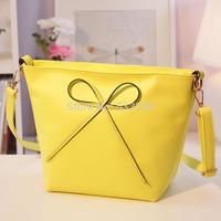 NB055 - Fashion Candy Color 2014 Women's Handbag Sweet Bow Shoulder Bag Small Bag Female Cross-Body Bags