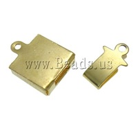 Free shipping!!!Brass Box Clasp,Statement jewellery 2013, Square, gold color plated, single-strand & hollow, nickel
