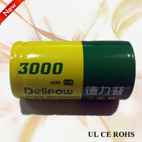C size rechargeable Ni-MH battery 3000mah