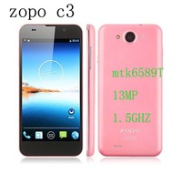 "Fast shipping Zopo C3 phone MTK6589T 1.5Ghz android 4.2 smartphone 1980*1080 5.0"" FHD gorilla glass 1GB Ram 16GB 13mp 3G phone"