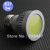 LED lamp COB E27 5W AC85-265V lampara 400LM LED Spotlights COB 5W Wholesale 20pcs/lot ,Free Shipping By FedEx