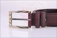 Fashion wood 2012 strap genuine leather male belt cummerbund belly chain pin buckle casual fashion