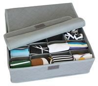 Thickening bamboo charcoal cloth socks storage box panties eco-friendly storage box non-woven