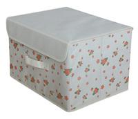 Medium Large eco-friendly non-woven storage box , clothes bags towel finishing box folding