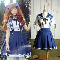 Sailor suit supplement high waist short skirt suspenders lolita