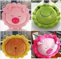 Cartoon pillow lion frog pig cushion flower pillow circle cushion