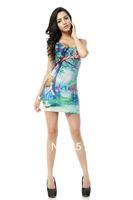 FREE SHIPPING Skirts Women 2013 Fashion Walker TQ027 High Flexible   Printed Slim Vest Skirts Plus Size Wholesale