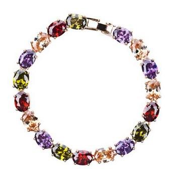 White Gold Plated Swiss Cubic Zircon Diamond Bracelet Make with Swarovski Elements N8083 Fashion Jewelry for woman Free Shipping