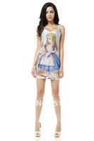 FREE SHIPPING Skirts Women 2013 Fashion Walker TQ033 High Flexible Cartoon Printed Slim Vest Skirts Plus Size Wholesale