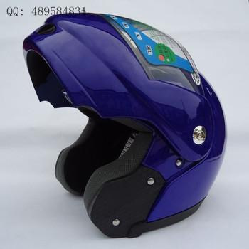 V-21 helmet motorcycle helmet automobile race helmet 688-a undrape face helmet blue