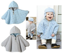 Children's clothing baby clothes baby cloak baby child cape spring and autumn baby cloak double faced